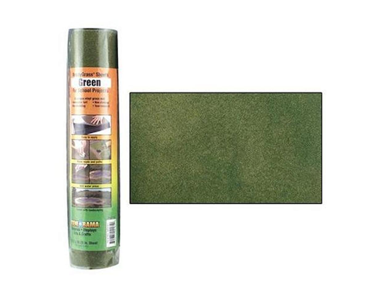 Woodland Scenics Scene-A-Rama Green Grass Ready Sheet, 10.75x16.25