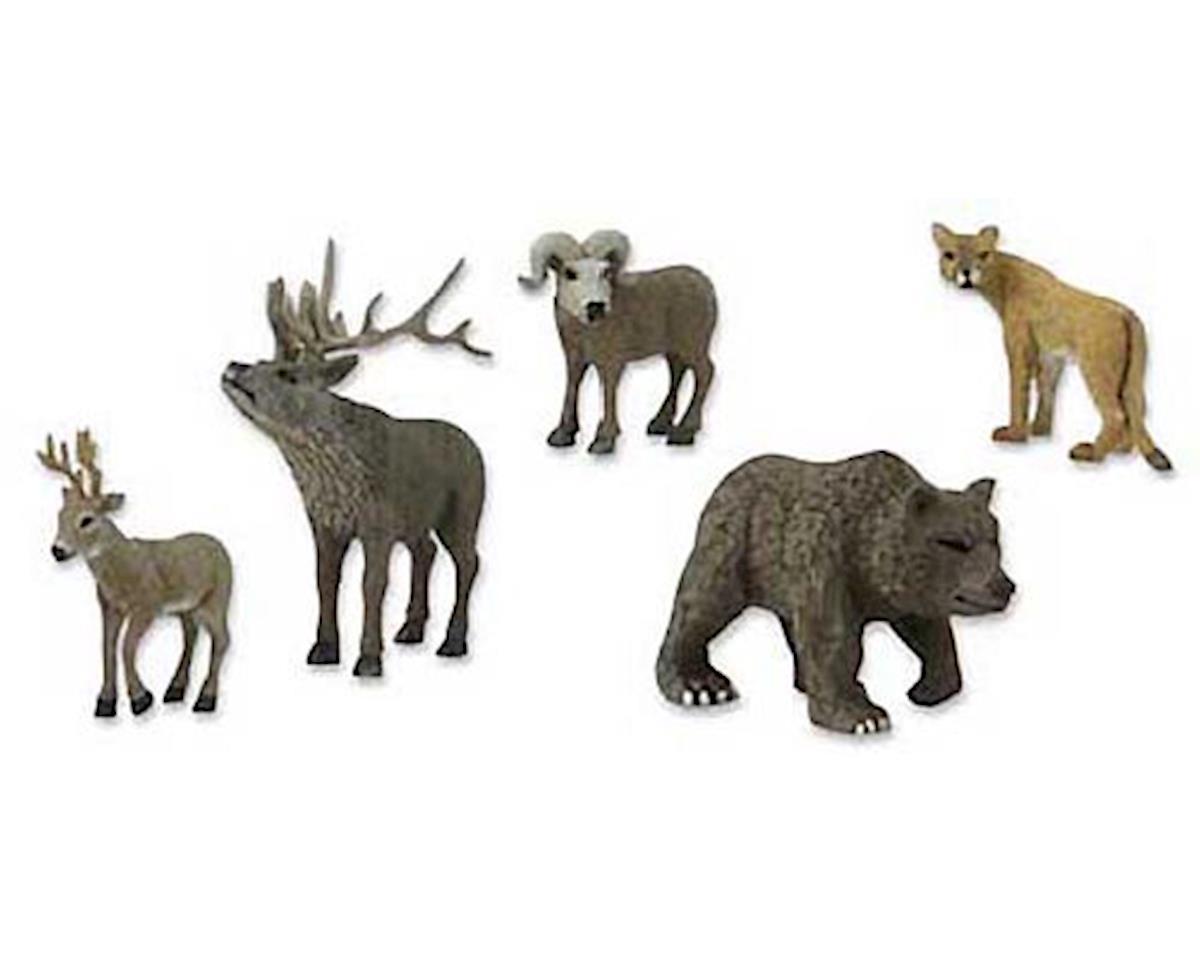 Woodland Scenics SP4349 Scene Setters North American Wildlife Clamshell