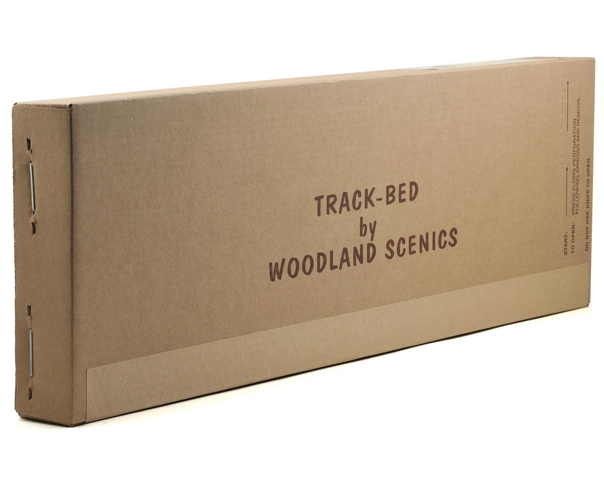 Woodland Scenics HO-Scale 2' Track-Bed Strips (36)
