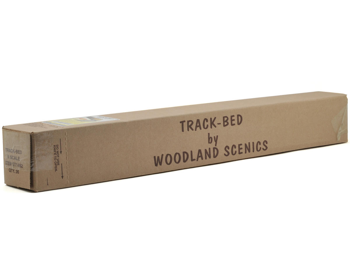 Woodland Scenics N-Scale 2' Track Bed Strips (36)
