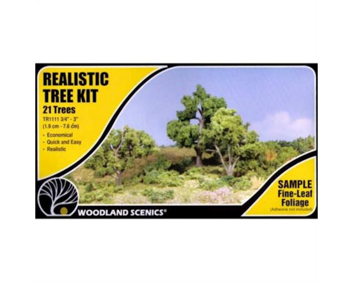 "Deciduous Tree Kit, 3/4""-3"" (21) by Woodland Scenics"