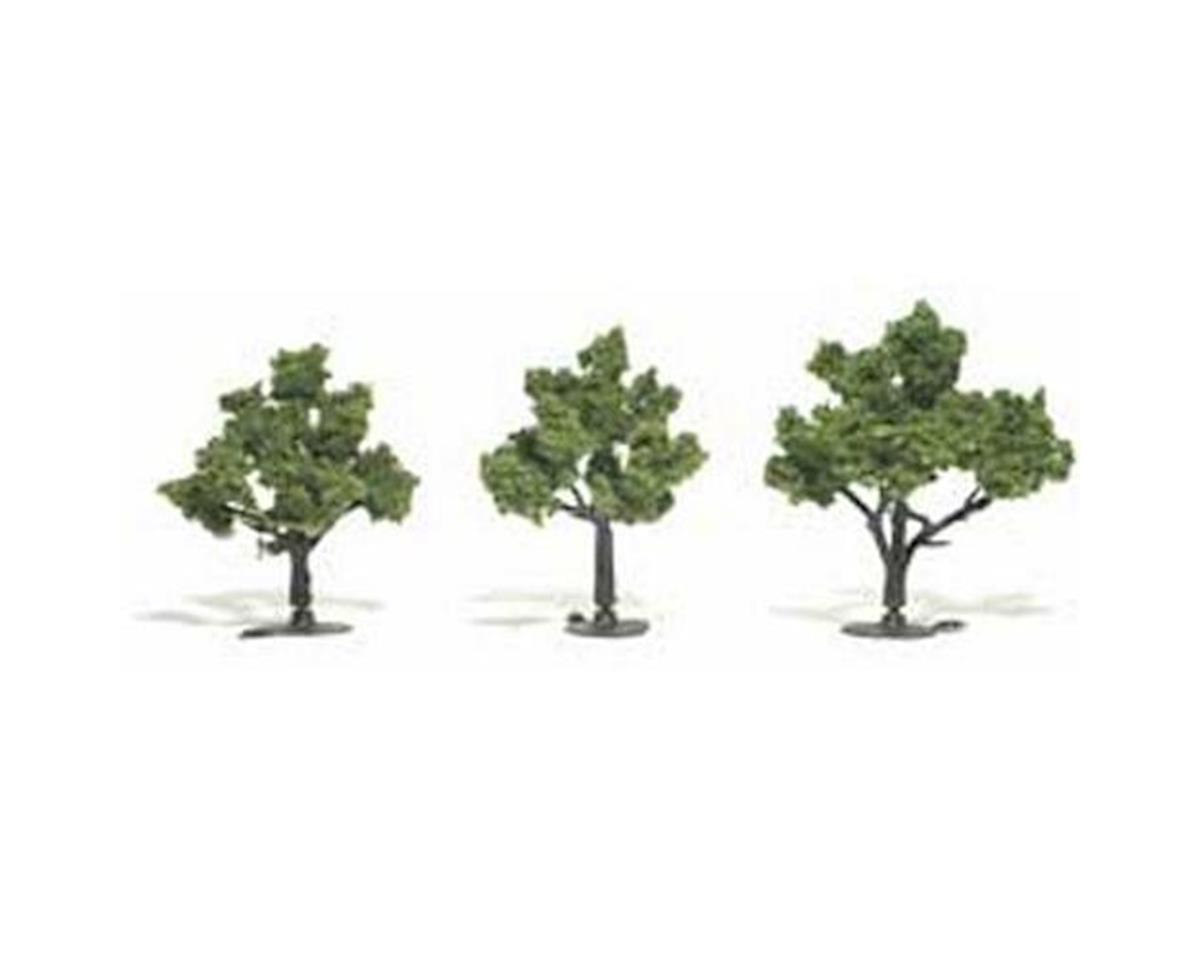 "Woodland Scenics Ready-Made Tree, Light Green 3-4"" (3)"