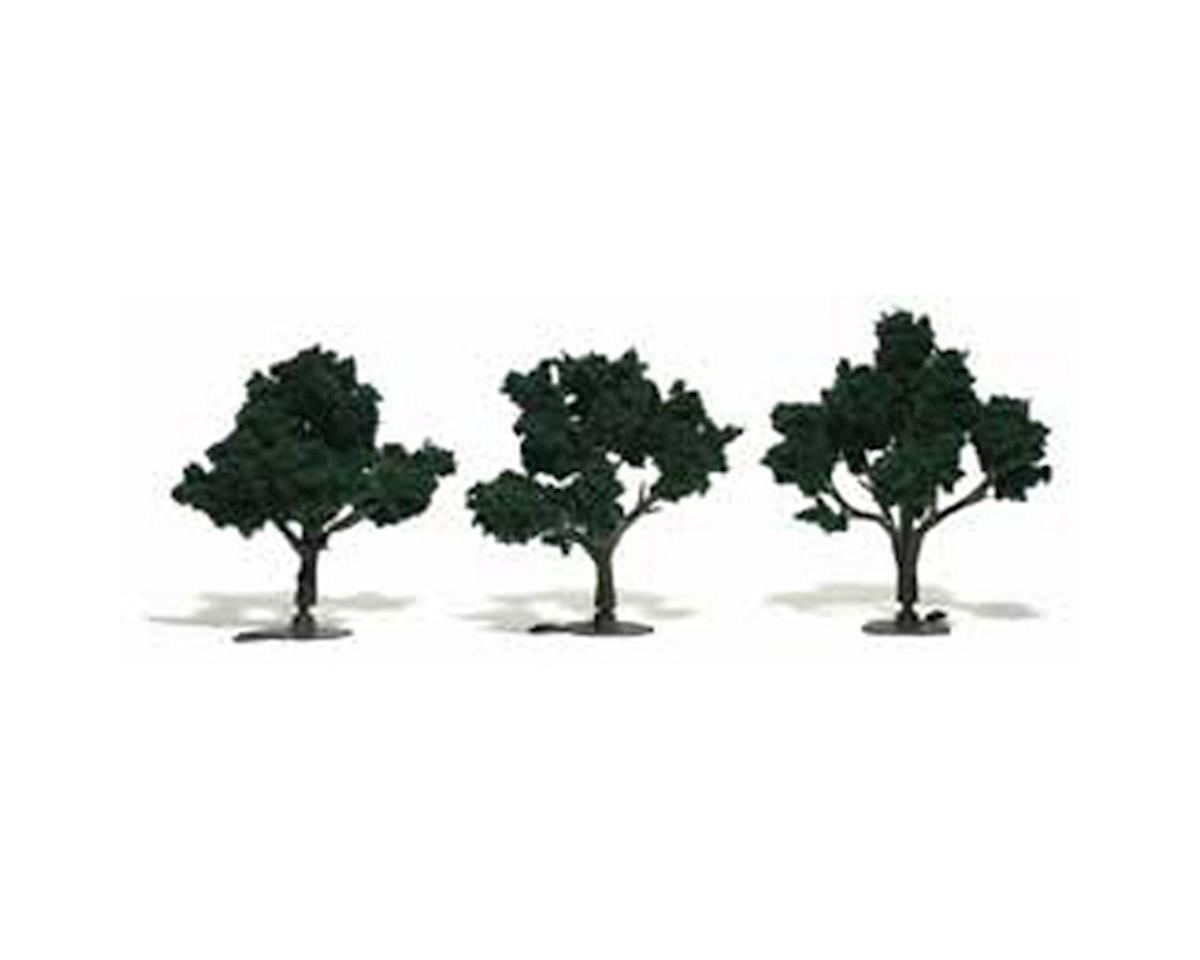 "Woodland Scenics Ready-Made Tree, Dark Green 3-4"" (3)"