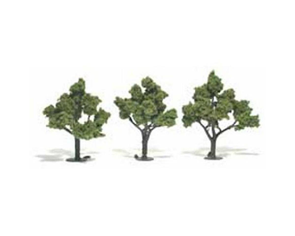 "Woodland Scenics Ready-Made Tree, Light Green 4-5"" (3)"