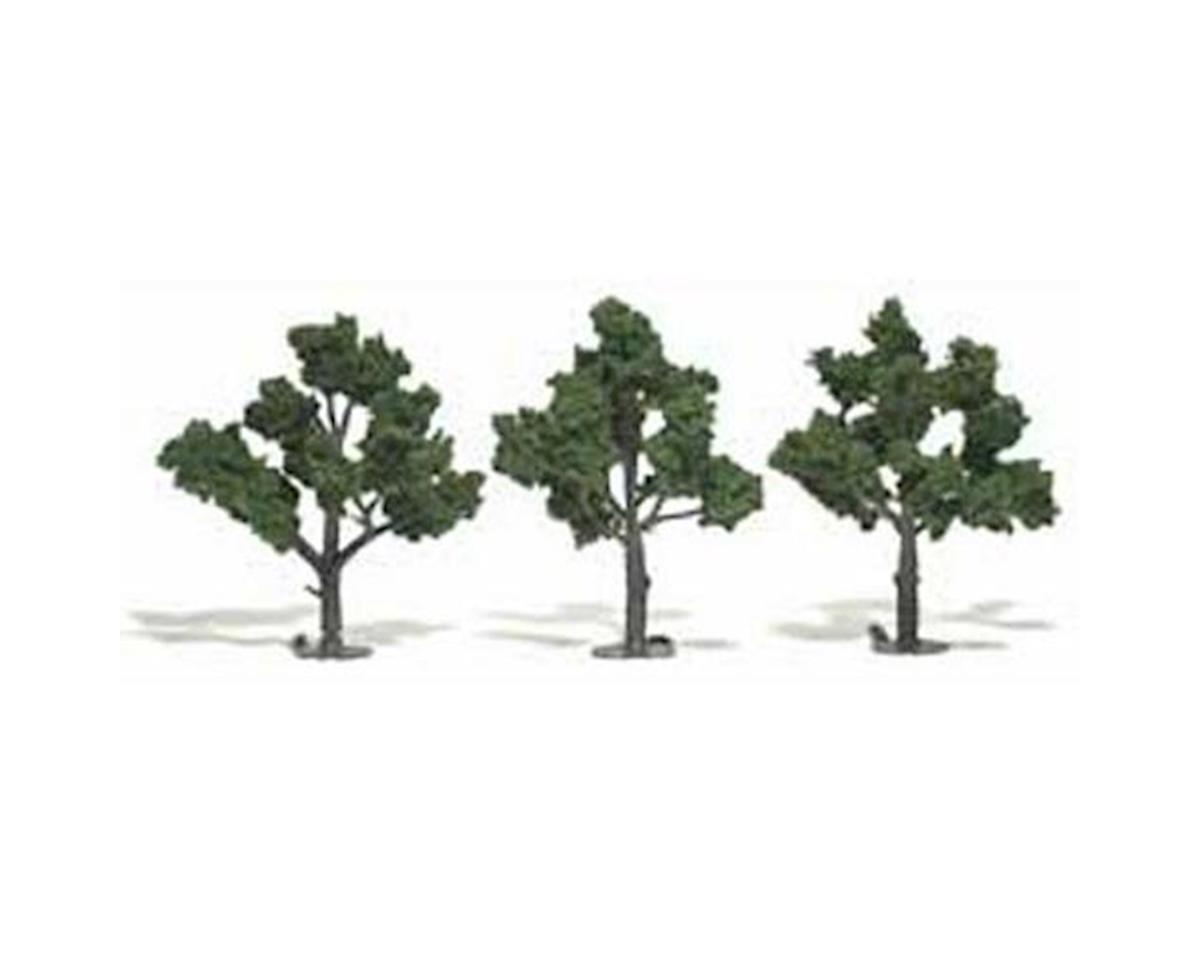 """Woodland Scenics Ready-Made Tree, Medium Green 4-5"""" (3)"""