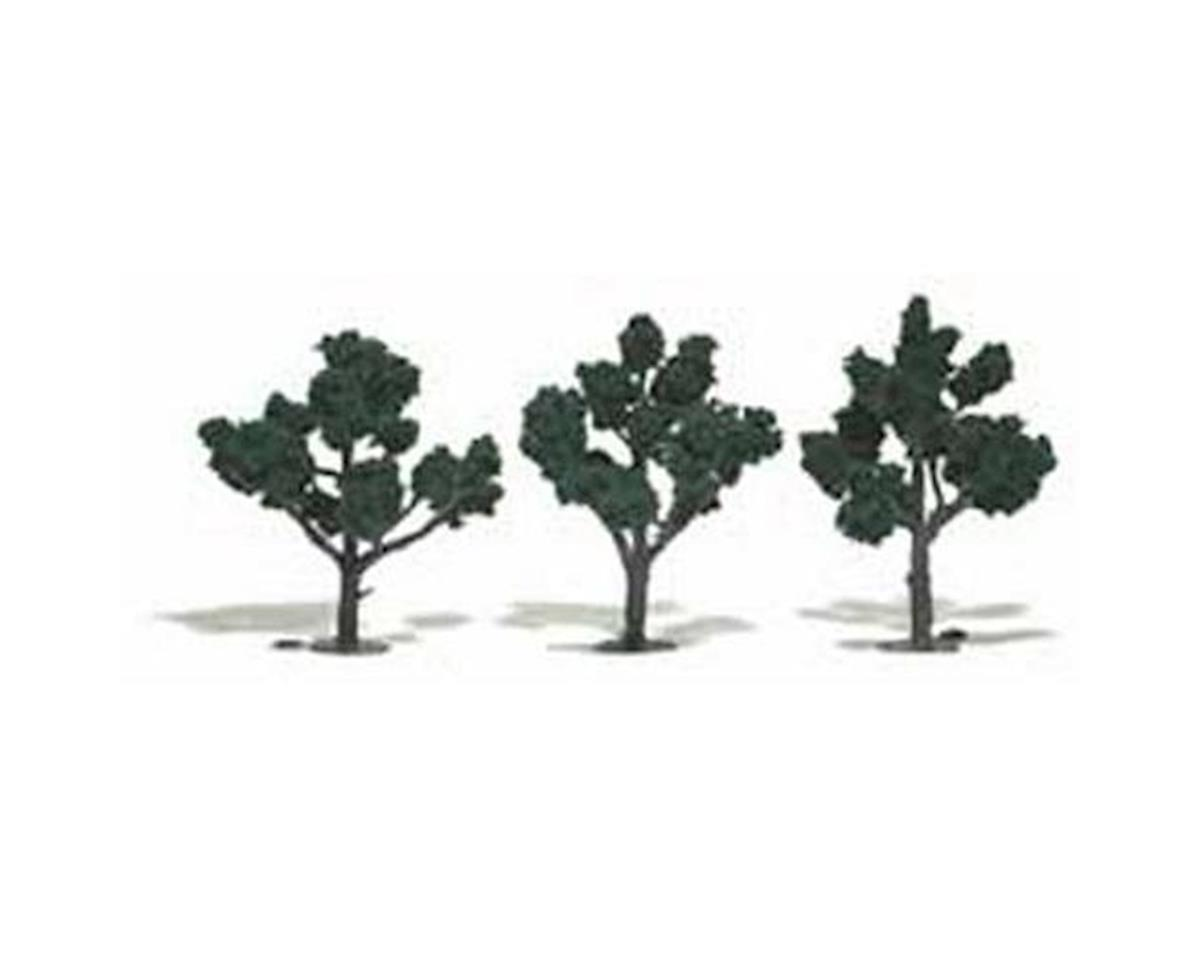 "Woodland Scenics Ready-Made Tree, Dark Green 4-5"" (3)"