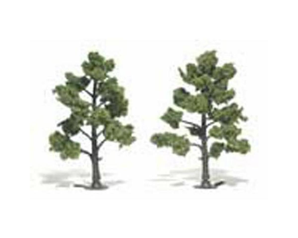 "Woodland Scenics Ready-Made Tree, Light Green 5-6"" (2)"