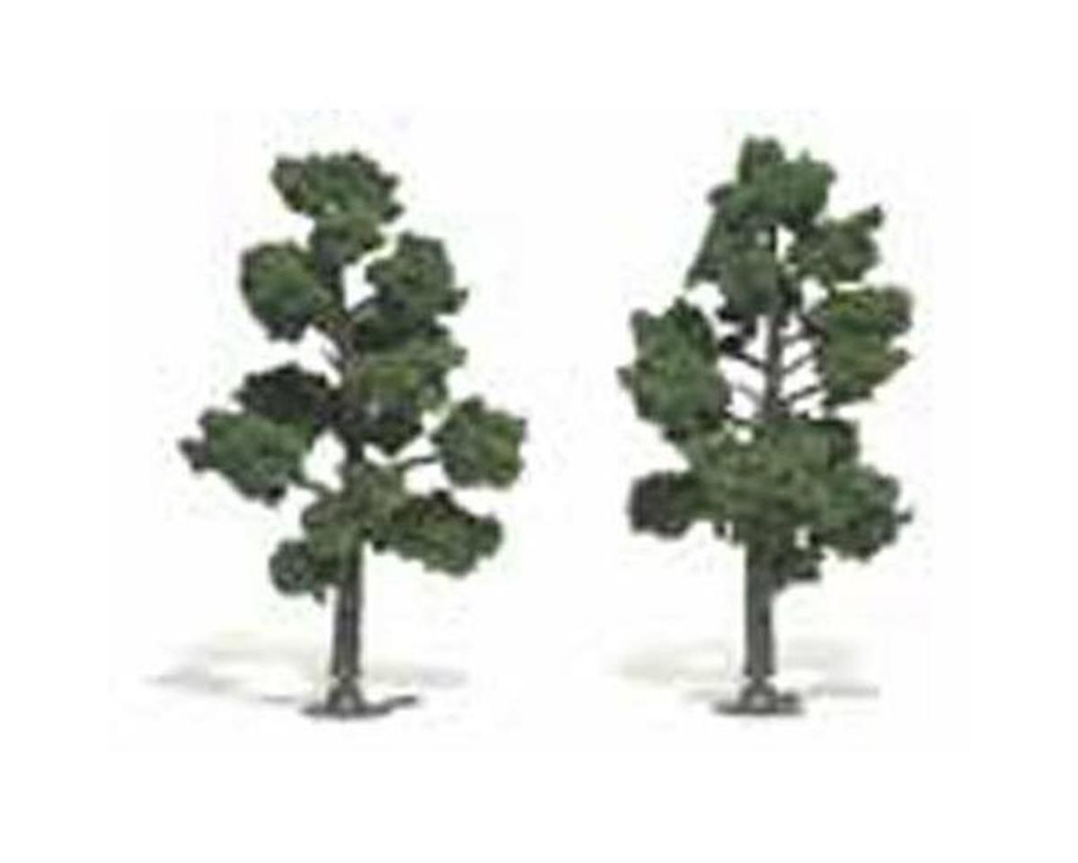 """Woodland Scenics Ready-Made Tree, Medium Green 5-6"""" (2)"""