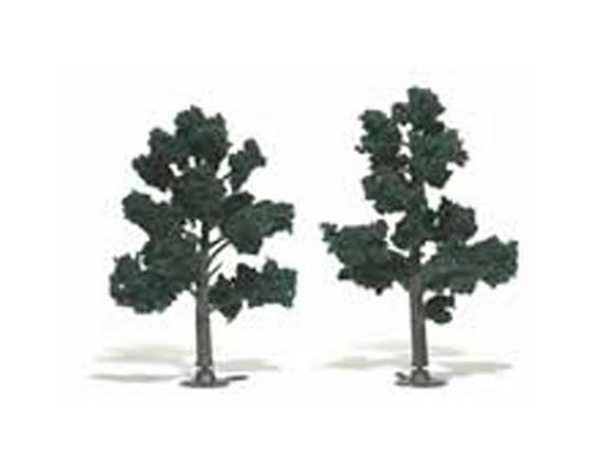 "Woodland Scenics Ready-Made Tree, Dark Green 4-5"" (2)"