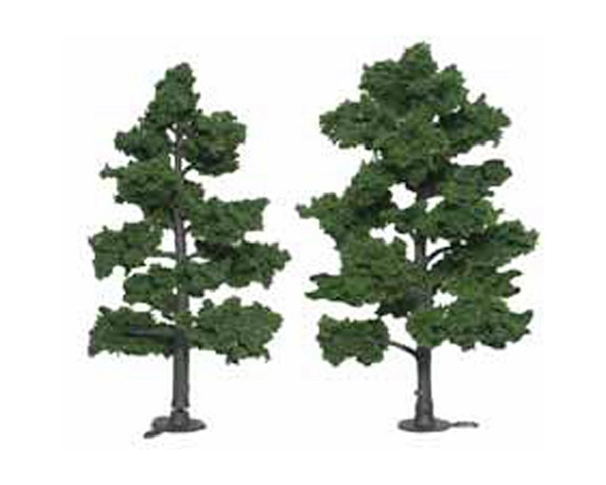"""Woodland Scenics Ready-Made Tree, Medium Green 6-7"""" (2)"""