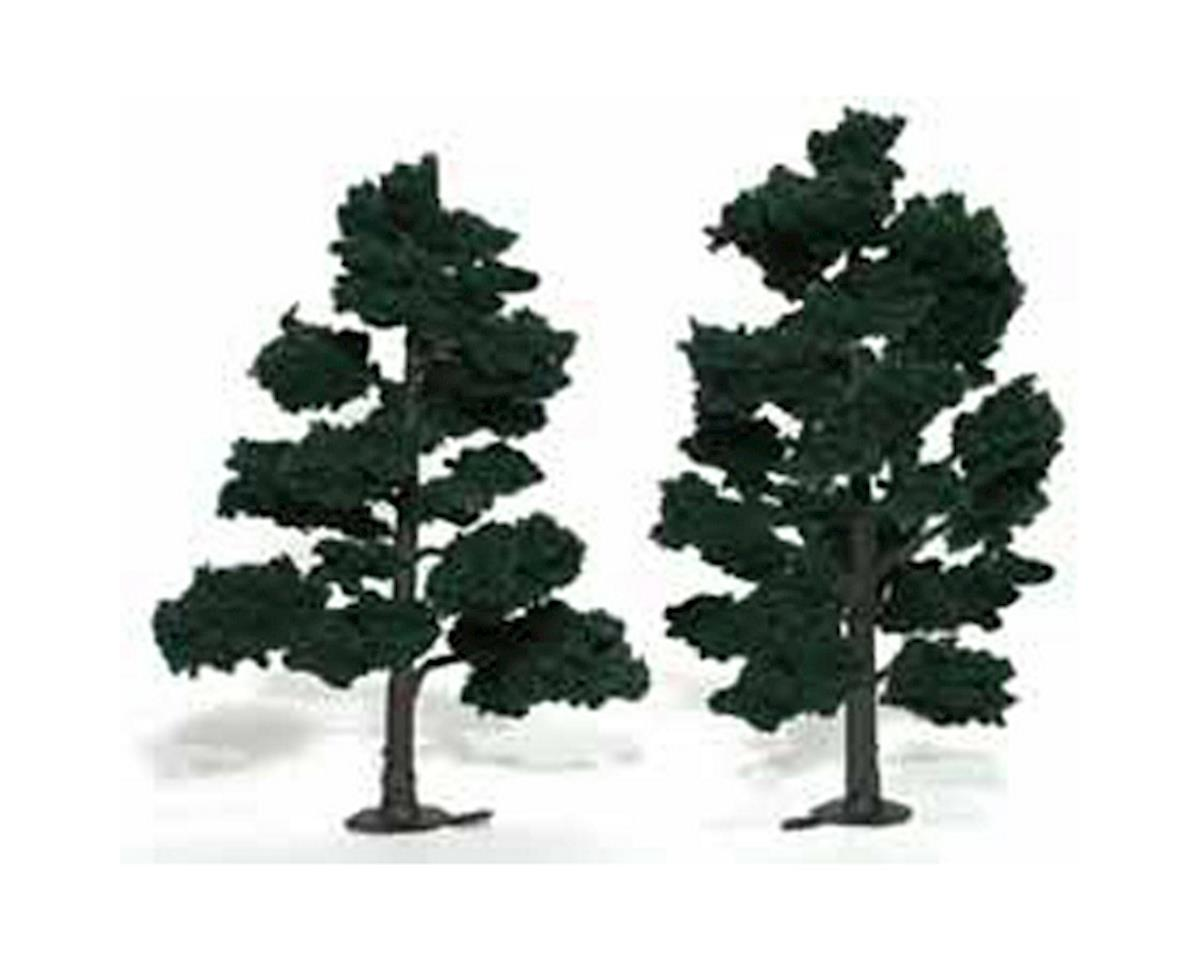 "Woodland Scenics Ready-Made Tree, Dark Green 6-7"" (2)"