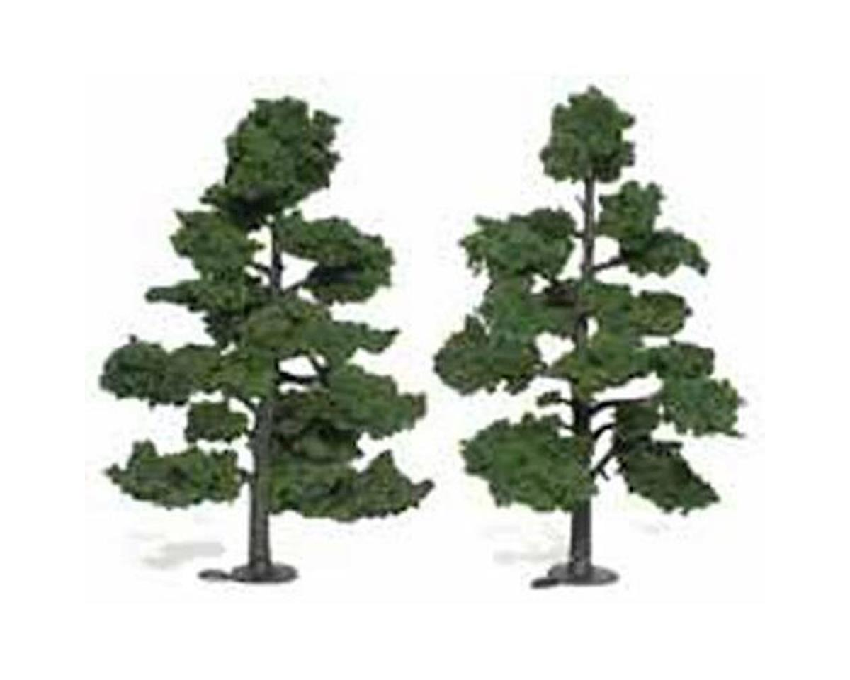 "Woodland Scenics Ready-Made Tree, Medium Green 7-8"" (2)"