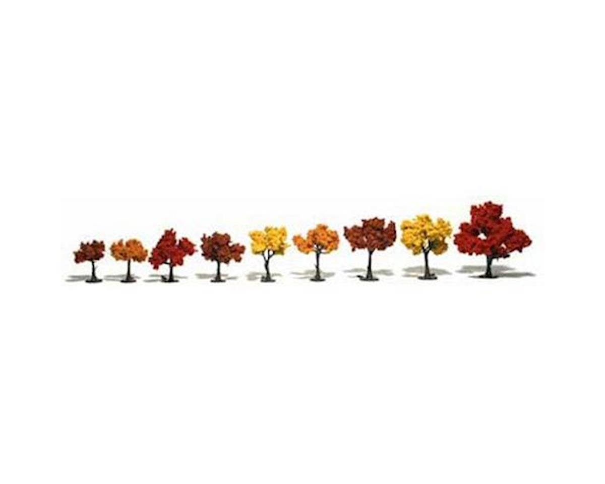 """Woodland Scenics Ready-Made Tree, Fall 1.25-3"""" (9)"""