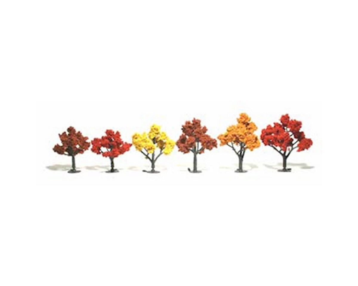 "Woodland Scenics Ready-Made Tree, Fall 3-5"" (6)"