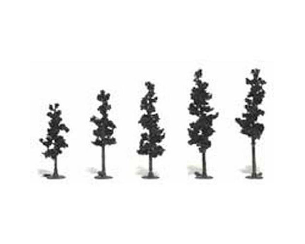"Woodland Scenics Ready-Made Pine, 2.5-4"" (5)"