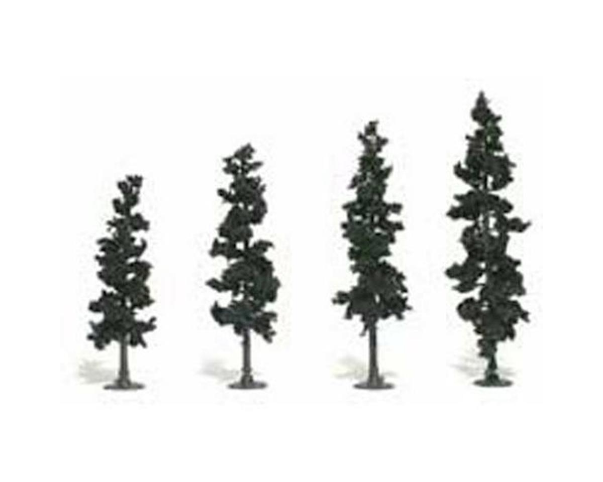 "Woodland Scenics Ready-Made Pine, 4-6"" (4)"
