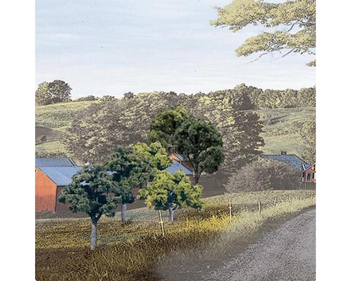 "Woodland Scenics Value Trees, Green Mix  2-3"" (23)"
