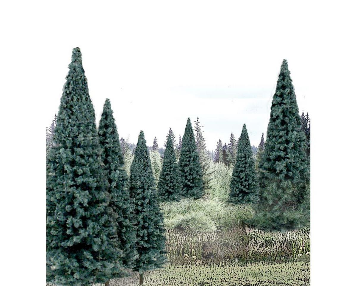 "Woodland Scenics Ready Made Trees Value Pack, Blue Spruce 4-6"" (13)"