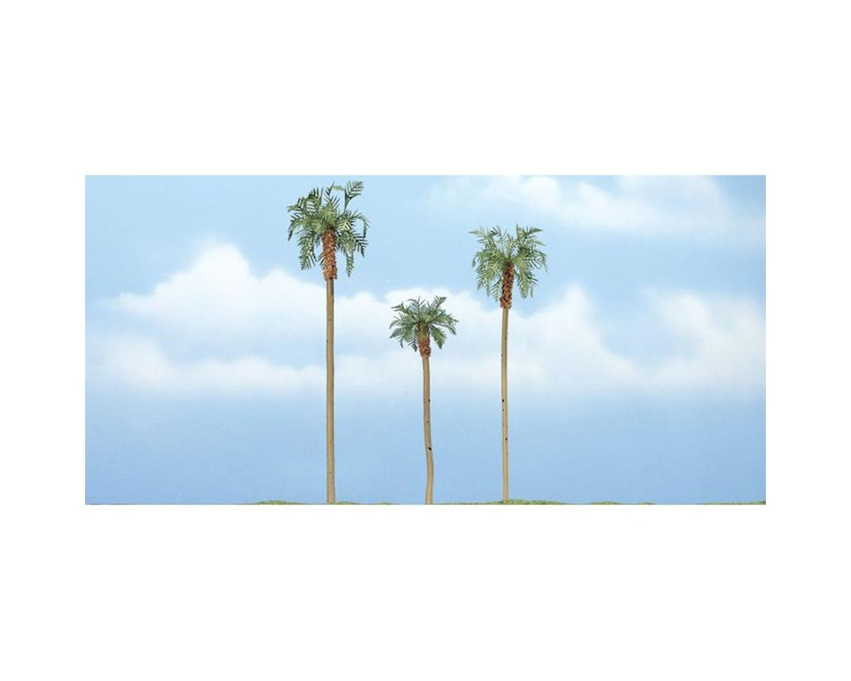 "Woodland Scenics Premium Royal Palm Tree, 4.5""/4""/3"" (3)"