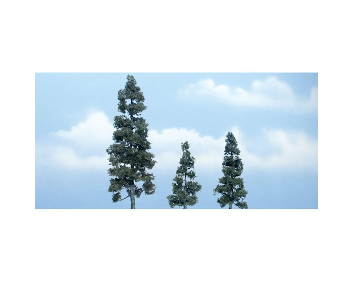 "Woodland Scenics Premium Juniper Tree, 5.25""/3""/2.5"" (3)"