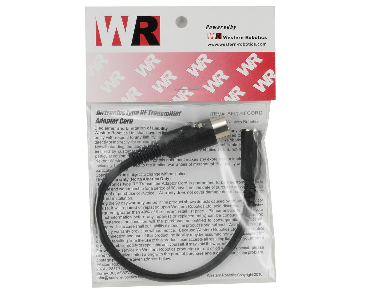 Western Robotics Airtronics Type RF Transmitter Adapter Cord