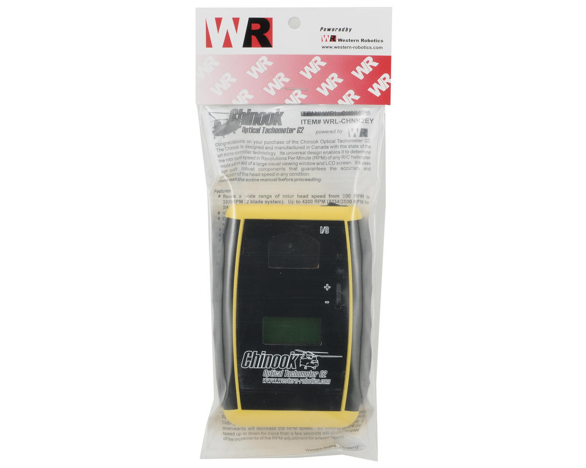 Western Robotics Chinook G2 Elite Optical Tachometer (Yellow) (2-4 Blades)
