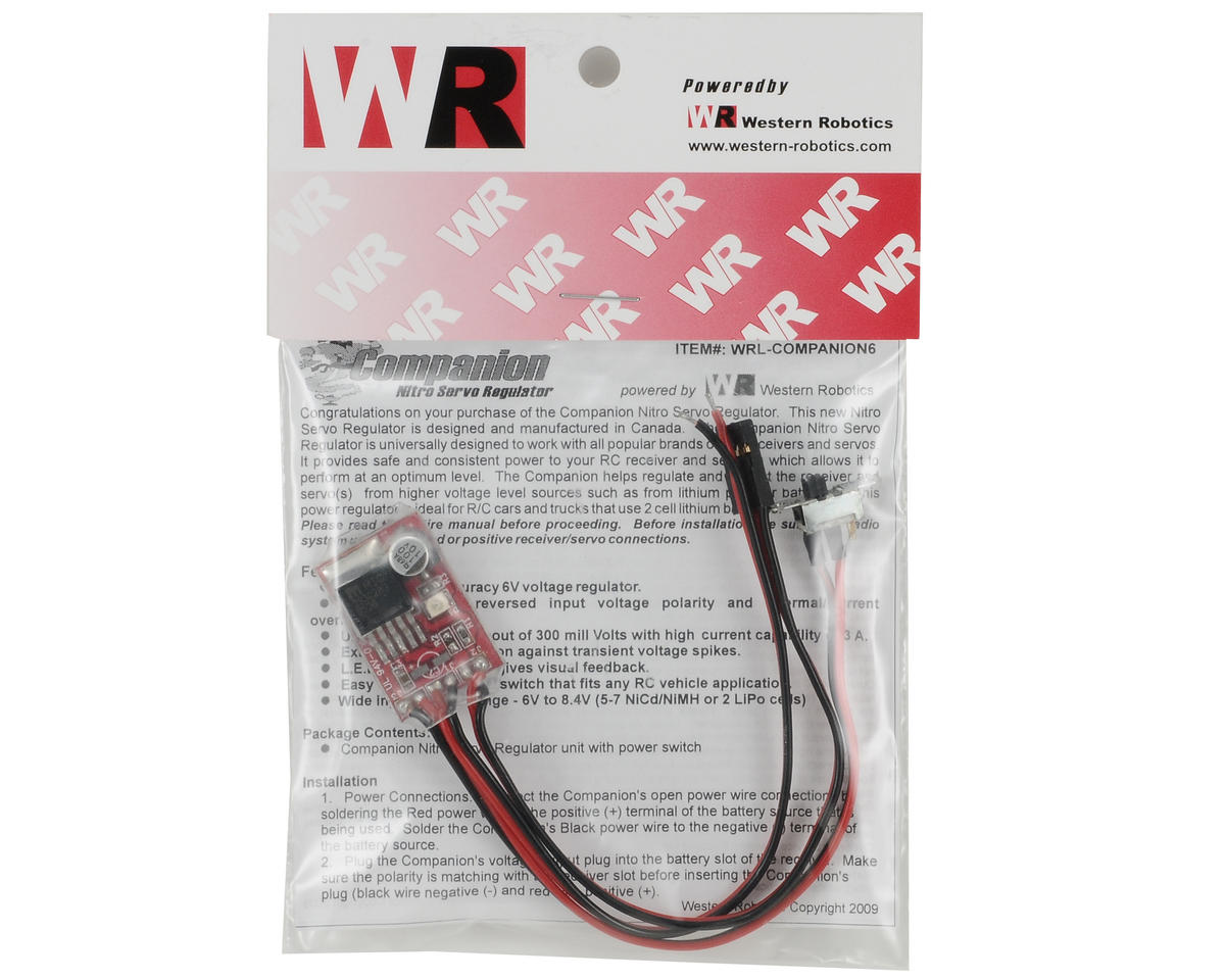 Western Robotics Companion Nitro Servo Regulator