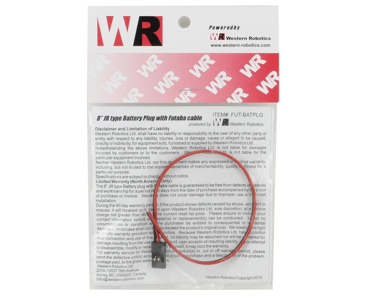 "Western Robotics 8"" JR Type Battery Plug w/Futaba Cable"