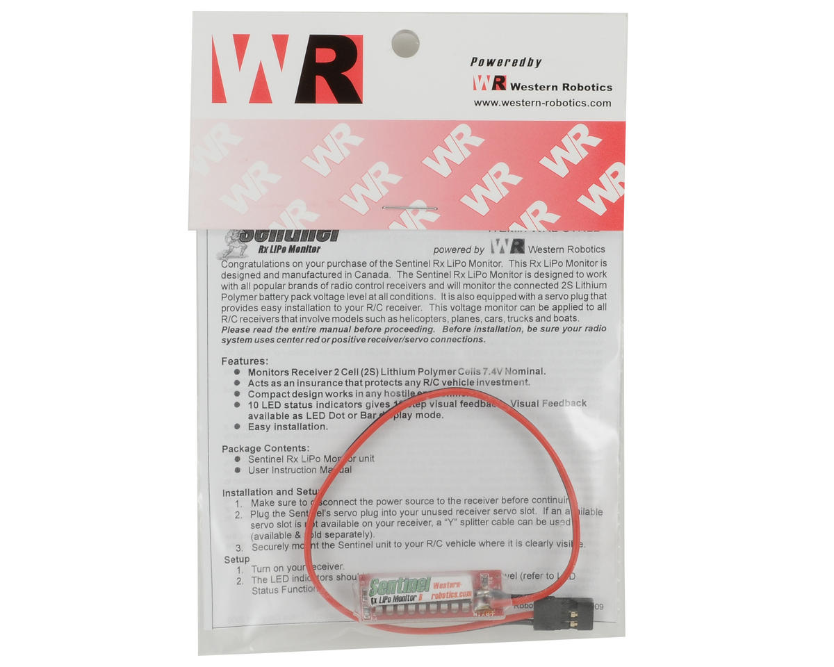 Sentinel Rx LiPo Monitor (Bar Mode) by Western Robotics