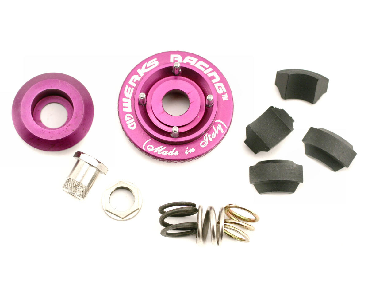 Werks Racing Adjustable 4-Shoe 1/8 Off Road Clutch System (Carbon)