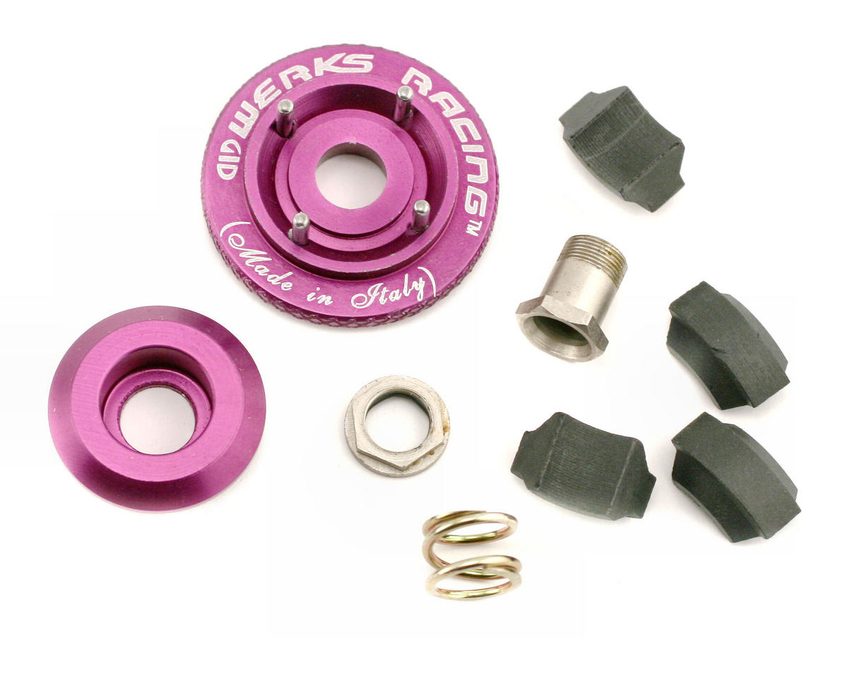 Werks Racing Adjustable 4-Shoe Monster Truck Clutch System (Carbon)