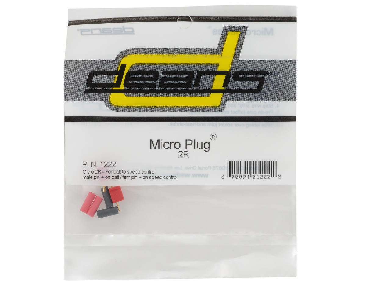 Deans Micro Plug 2R Red Polarized Connector