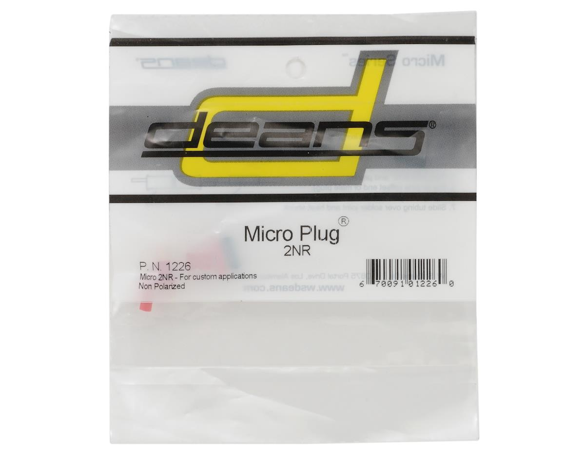 Image 2 for Deans Micro Plug 2NR Red Non-Polarized Connector (Reversible)