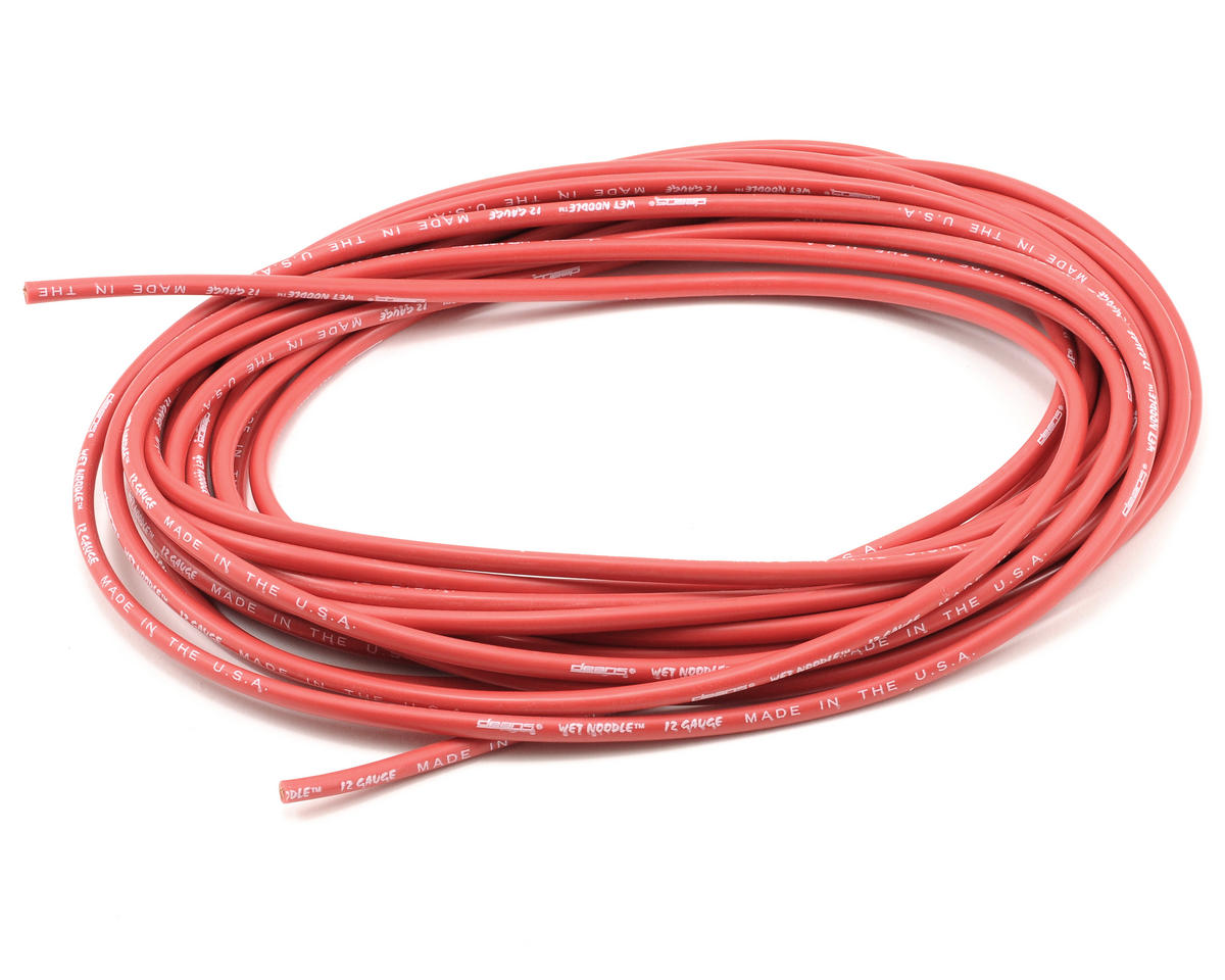 Deans Wet Noodle 12 Gauge - 25' (Red)