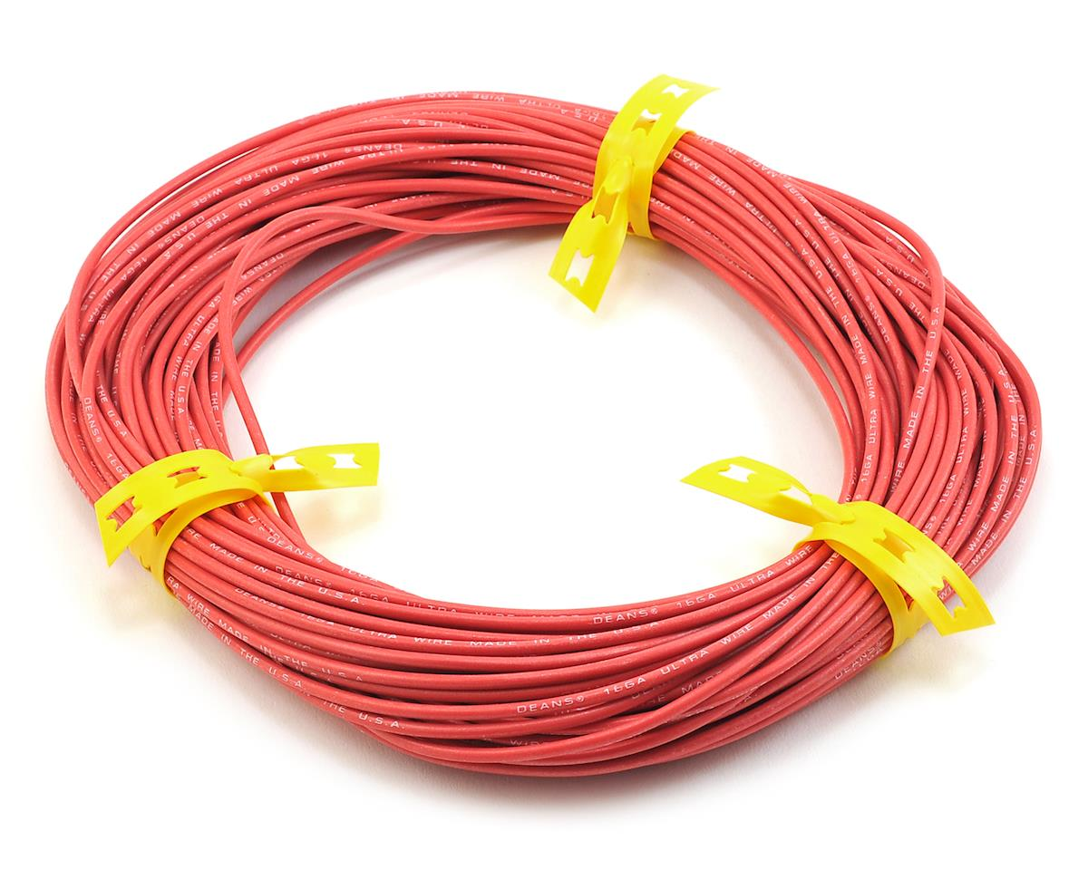 Deans Ultra Wire 16 Gauge (100') (Red)
