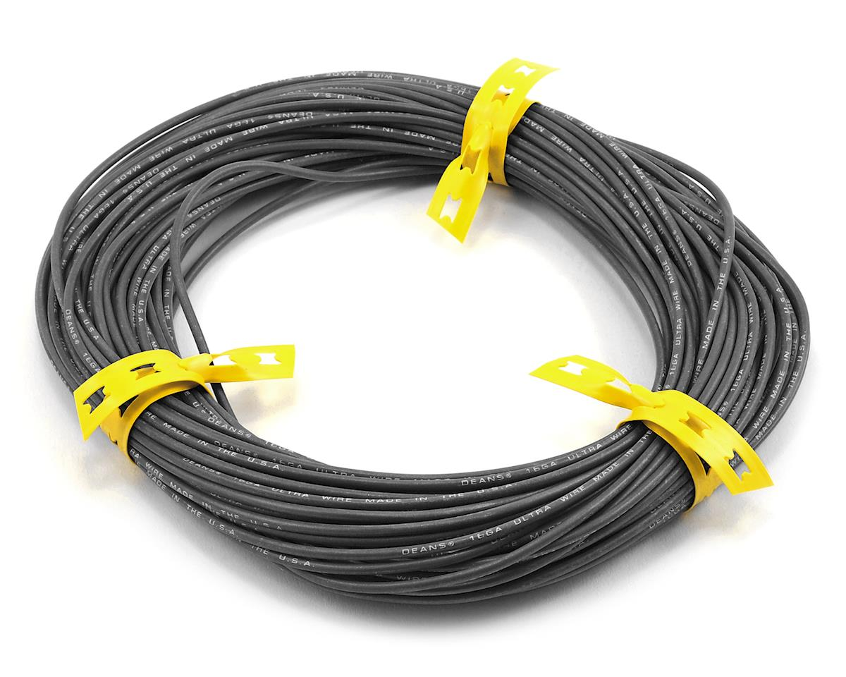 Deans Ultra Wire 16 Gauge (100') (Black)
