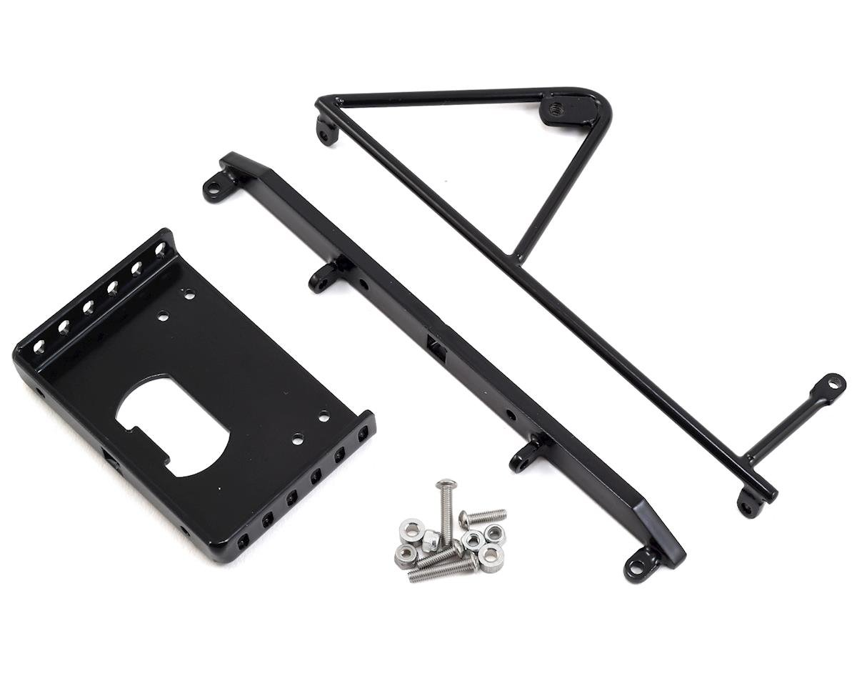 "SCX10 II CRC Jeep 6.5"" Rear Bumper w/Tire Mount"