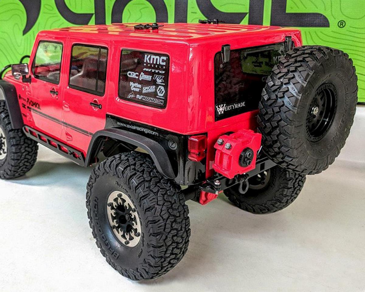 "Wertymade SCX10 II CRC Jeep 6.5"" Rear Bumper w/Tire Mount"