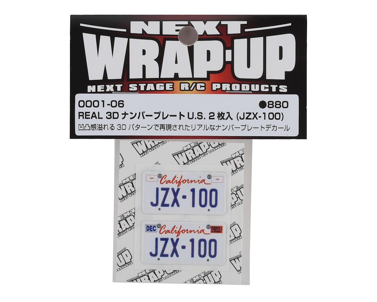 WRAP-UP NEXT REAL 3D U.S. Licence Plate (2) (JZX-100) (11x50mm)