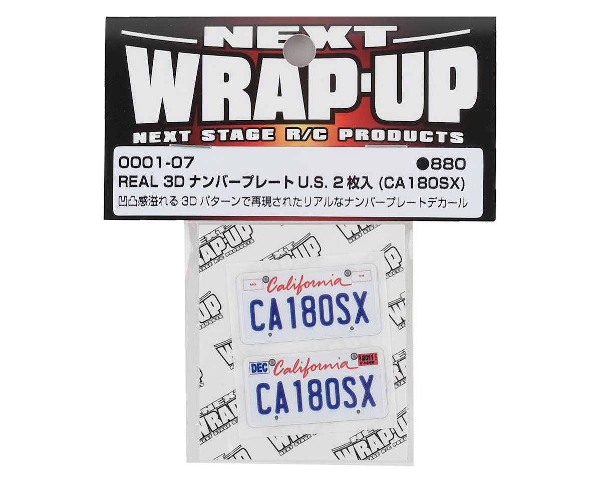 WRAP-UP NEXT REAL 3D U.S. Licence Plate (2) (CA180SX) (11x50mm)