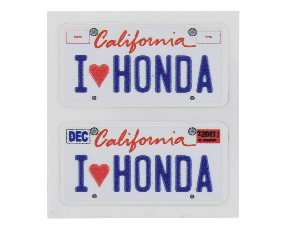 WRAP-UP NEXT REAL 3D U.S. Licence Plate (2) (I LOVE HONDA) (11x50mm)