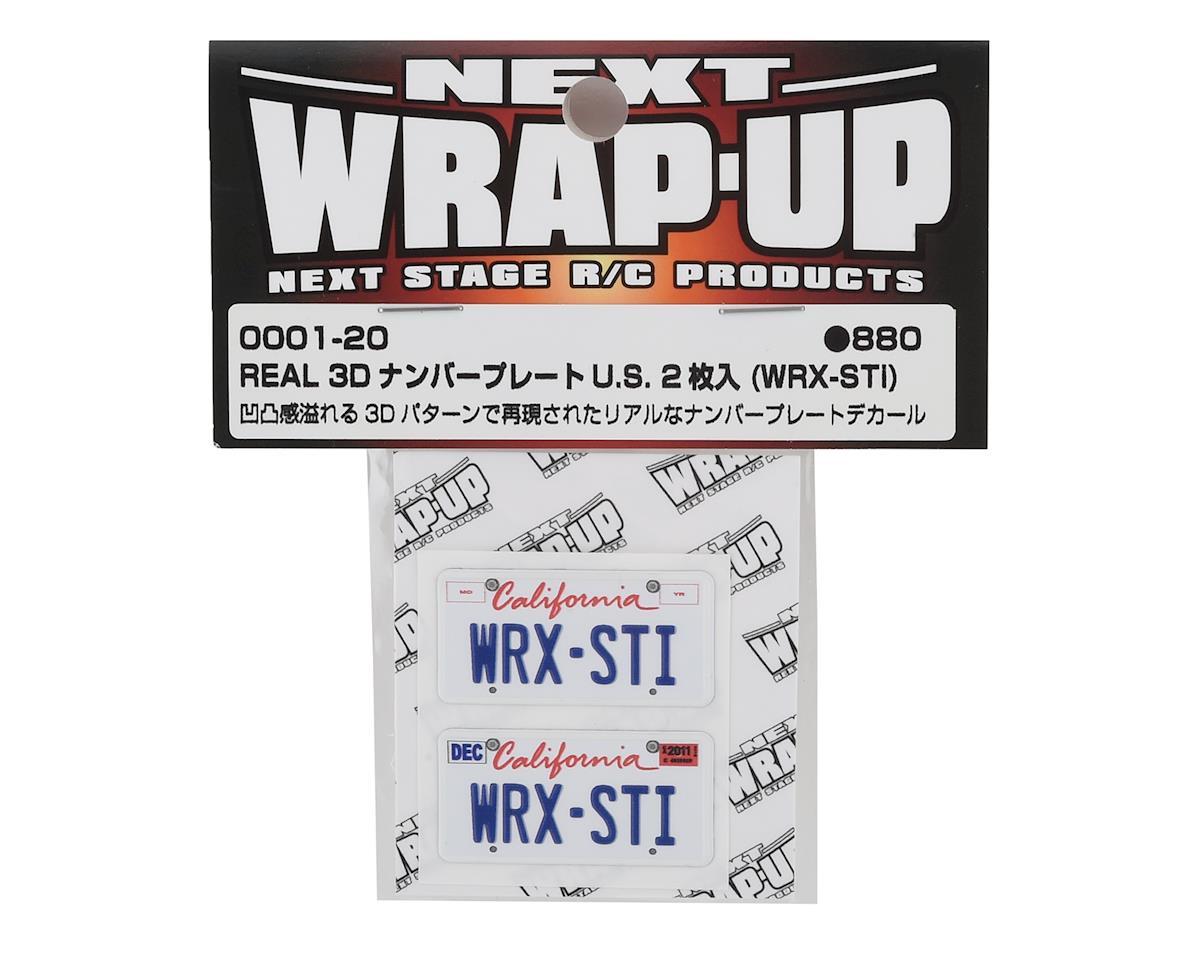 WRAP-UP NEXT REAL 3D U.S. Licence Plate (2) (WRX-STi) (11x50mm)