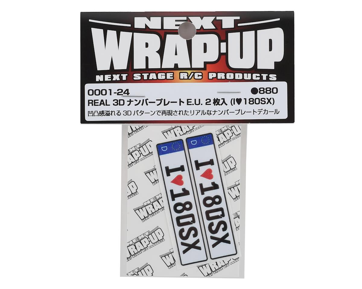 WRAP-UP NEXT REAL 3D E.U. Licence Plate (2) (I LOVE 180SX) (11x50mm)