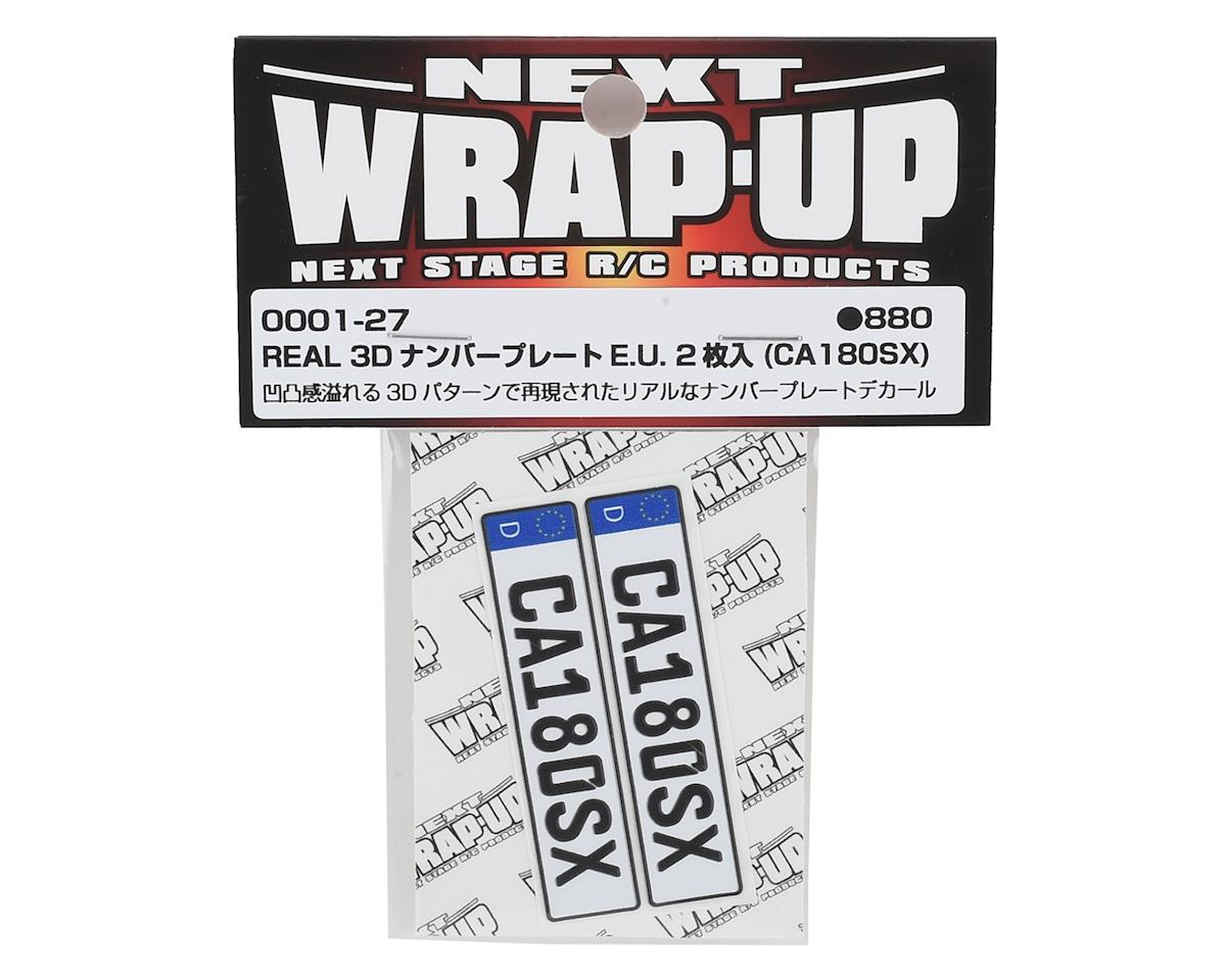 WRAP-UP NEXT REAL 3D E.U. Licence Plate (2) (CA180SX) (11x50mm)