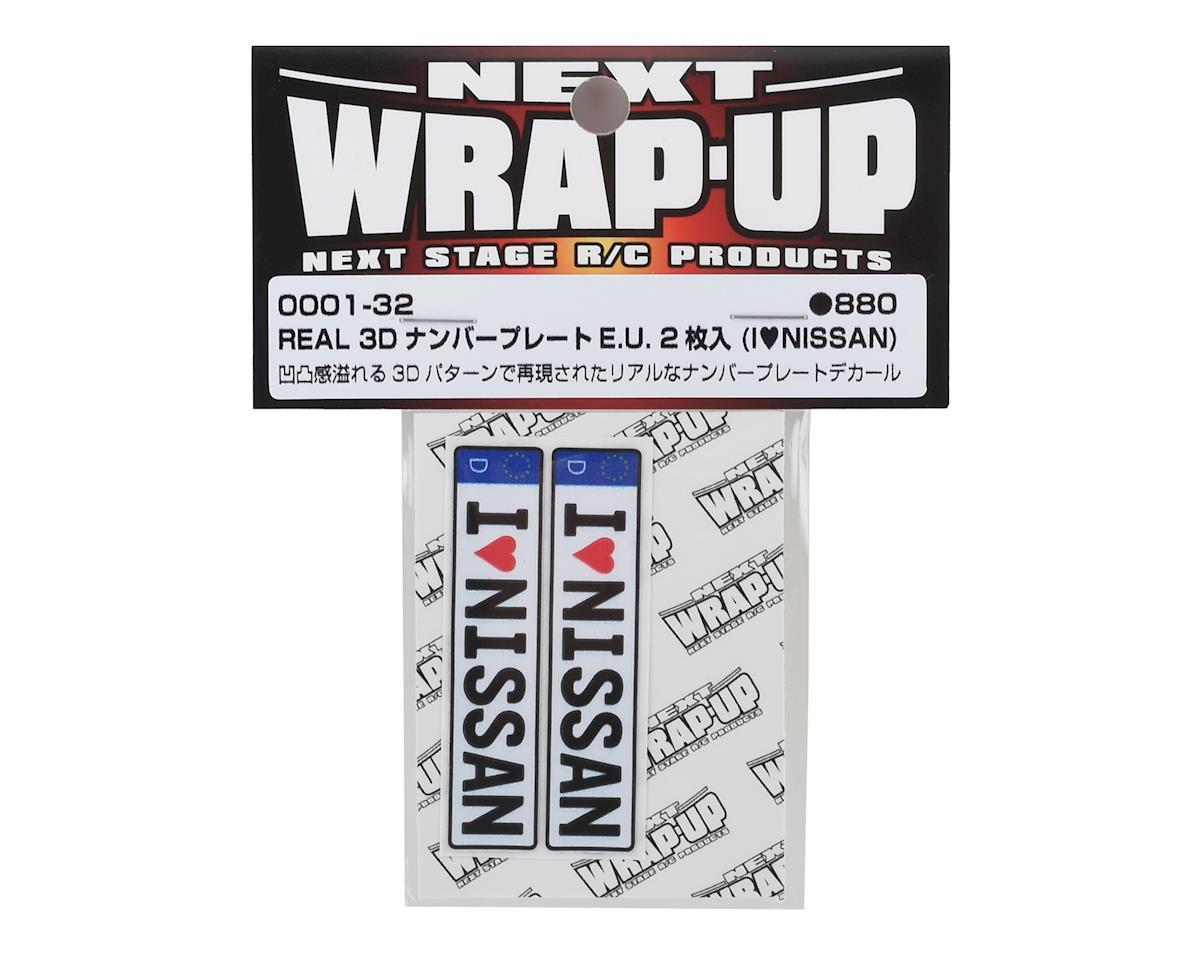 WRAP-UP NEXT REAL 3D E.U. Licence Plate (2) (I LOVE NISSAN) (11x50mm)
