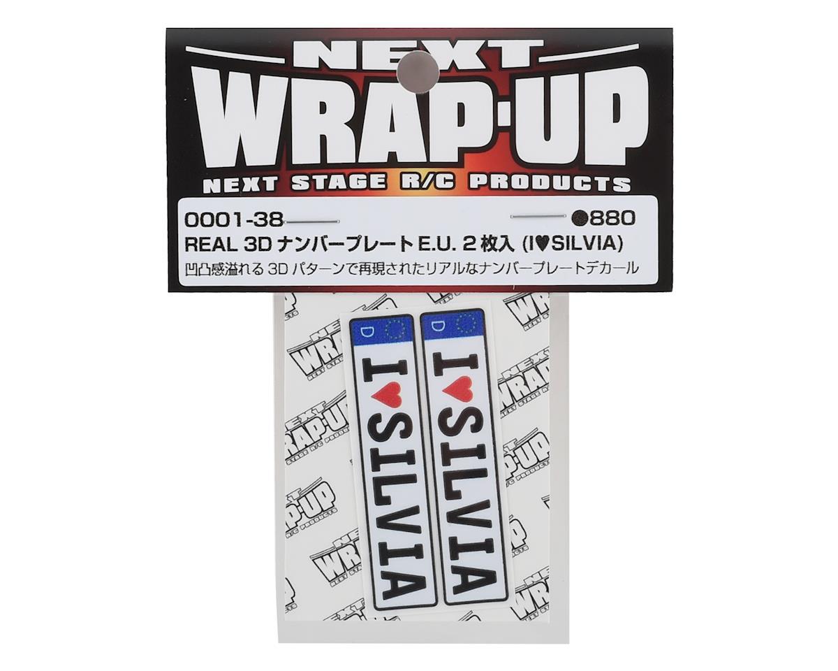 WRAP-UP NEXT REAL 3D E.U. Licence Plate (2) (I LOVE SILVIA) (11x50mm)