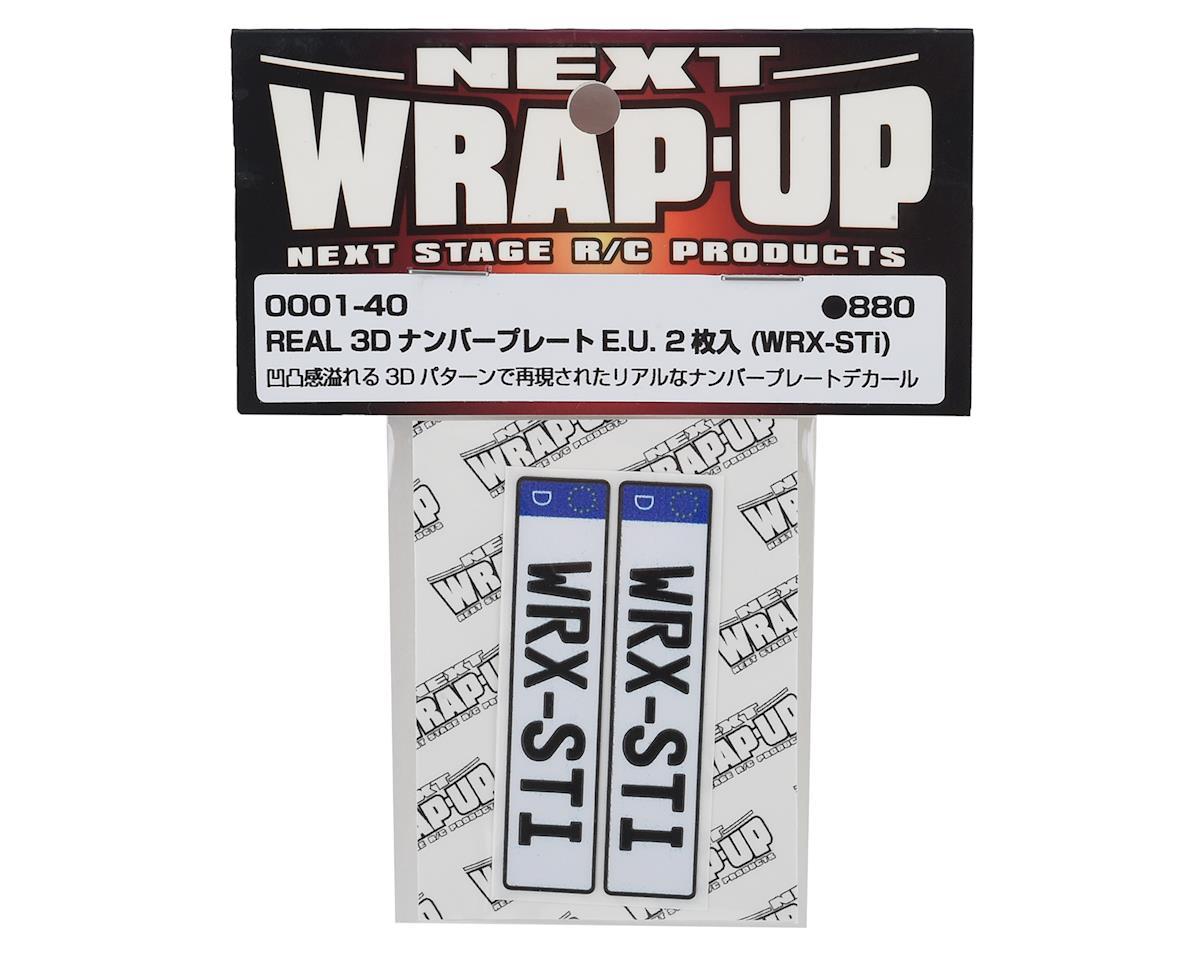 WRAP-UP NEXT REAL 3D E.U. Licence Plate (2) (WRX-STi) (11x50mm)
