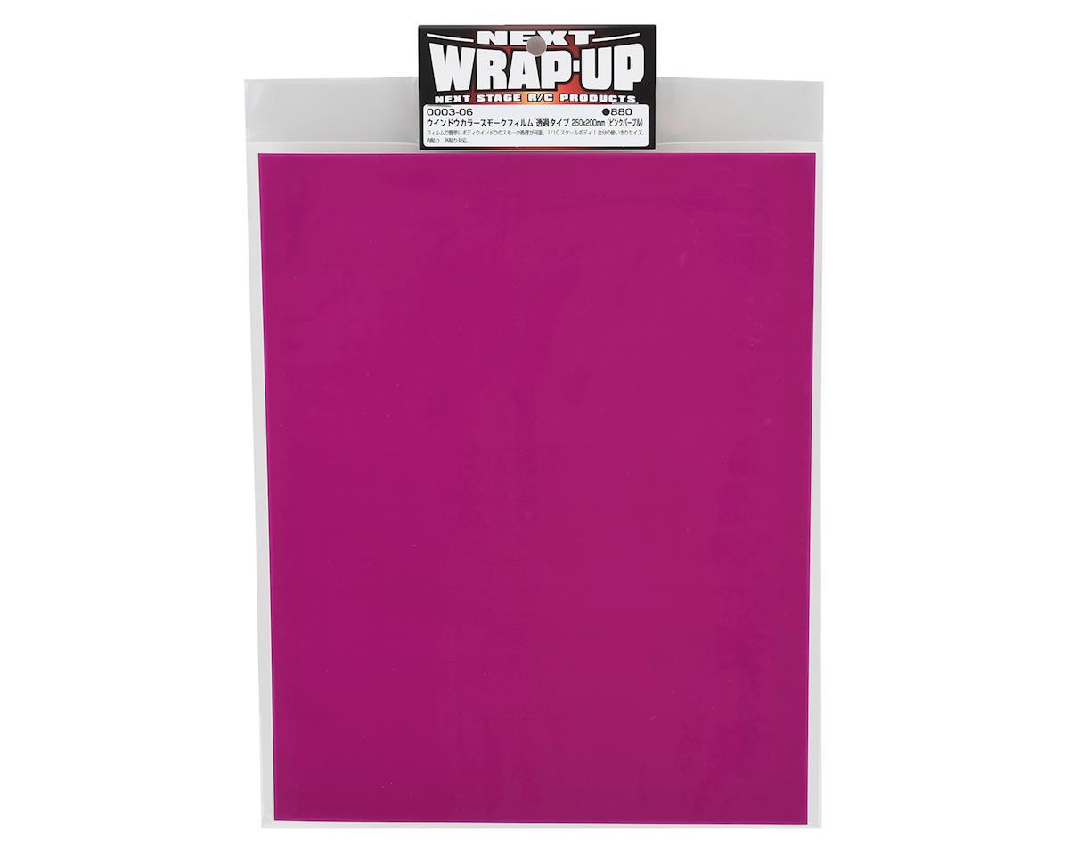 WRAP-UP NEXT Window Tint Film (Pink Purple) (250x200mm)