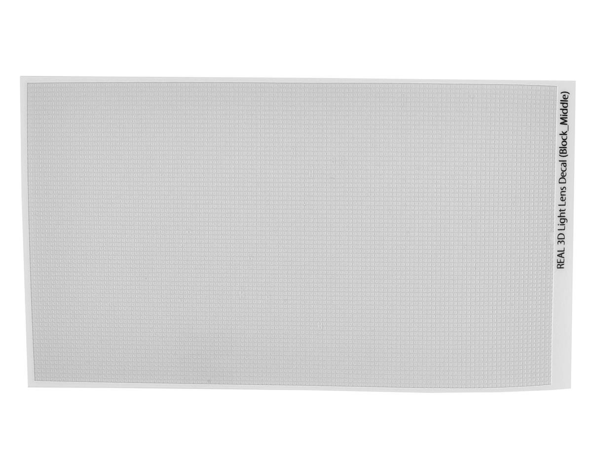 WRAP-UP NEXT REAL 3D Light Lens Decal (Clear) (Block-Middle) (130x75mm)