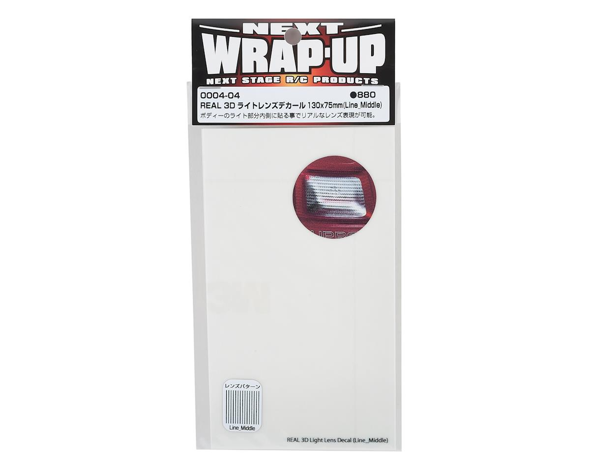 WRAP-UP NEXT REAL 3D Light Lens Decal (Clear) (Line-Middle) (130x75mm)